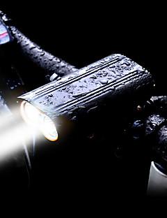 preiswerte Radfahren-Fahrradlicht LED Radlichter LED Radsport Wasserdicht, Sets, Mehrere Modi Wiederaufladbarer Akku 2400 lm Eingebaute Li-Batterie angetrieben Weiß Radsport