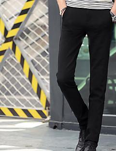 billige Herrebukser og -shorts-Herre Normal Enkel Mikroelastisk Chinos Bukser, Mellomhøyt liv Polyester Ensfarget Vinter