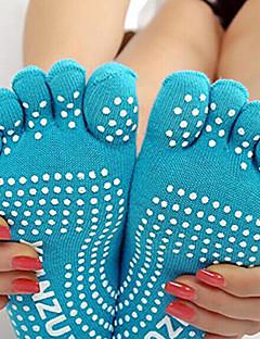 billiga Träning-, jogging- och yogakläder-Dam Yoga Socks - Ljusblå, Grå, Lila sporter Strumpor Sportkläder Andningsfunktion, Anti-Halk Hög Elasisitet