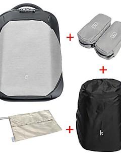 billiga Ryggsäckar och väskor-17.3L Ryggsäckar / Laptopväska / Ryggsäck - Vattentät dragkedja, Anti Lost Nylon Svart, Grå