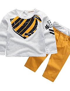 billige Tøjsæt til drenge-Drenge Tøjsæt Daglig Sport I-byen-tøj Ferie Skole Blomstret Galakse Trykt mønster, Bomuld Simple Vintage Sødt Afslappet Aktiv Hvid
