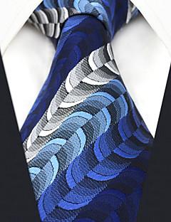 billige Slips og sløyfer-menns festverk rayon slips - stripet geometrisk jacquard