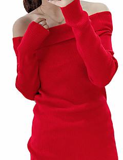 tanie Swetry damskie-Damskie Seksowny Pulower Jendolity kolor