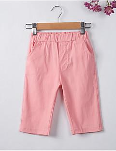 tanie Odzież dla dziewczynek-Szorty Poliester Dla dziewczynek Codzienny Jendolity kolor Wiosna Lato White Black Blushing Pink Yellow Light Blue