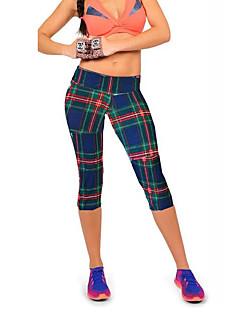 baratos Leggings para Mulheres-Mulheres Estampada Legging - Geométrica, Estampado Cintura Média