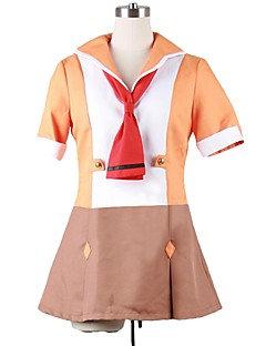 """billige Anime Kostymer-Inspirert av Programmene Frontier Cosplay Anime  """"Cosplay-kostymer"""" Cosplay Klær Annen Kortermet Kjole / Mer Tilbehør Til Herre / Dame Halloween-kostymer"""