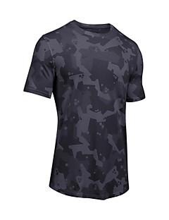 billige Løbetøj-Herre Løbe-T-shirt - Hvid, Sort Sport camouflage T-Shirt Træning & Fitness Kortærmet Sportstøj Åndbarhed Elastisk