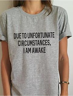 billiga Damöverdelar-Modern Stil,Bokstav T-shirt-Enkel Dam