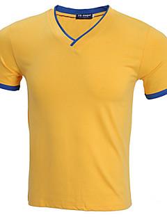 billige Herremote og klær-Tynn V-hals T-skjorte Herre - Ensfarget / Kortermet / Lang