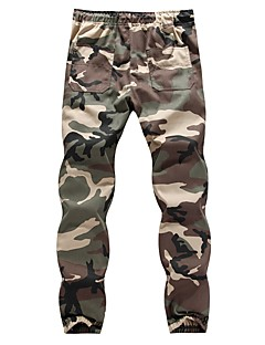 cheap Pants-Men's Cotton Skinny / Sweatpants Pants - Camouflage Gray / Spring / Summer