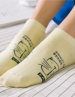 billige Moteundertøy-Dame Sokker i Bella-stil Trykt mønster Normal