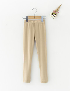 billige Bukser og leggings til piger-Pige Bukser Daglig Ensfarvet, Bomuld Vinter Simple Aktiv Rød Lyserød Beige Kamel Grå