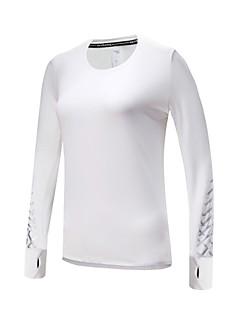 Χαμηλού Κόστους Αθλητικά ρούχα-BARBOK Γυναικεία Λευκό, Μαύρο, Σκούρο γκρι Αθλητισμός Μονόχρωμο, Δραστική Εκτύπωση Φούτερ / Μπολύζες Μακρυμάνικο Ρούχα Γυμναστικής