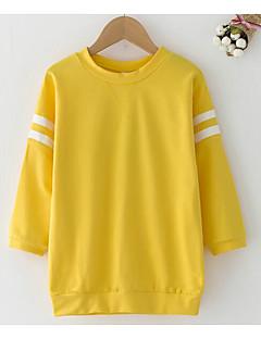 tanie Odzież dla dziewczynek-Bluza z kapturem / bluza Poliester Dla dziewczynek Codzienny Jendolity kolor Wiosna Długi rękaw Prosty Orange Yellow