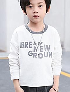 billige Hættetrøjer og sweatshirts til drenge-Drenge Hættetrøje og sweatshirt Blomstret Galakse, Bomuld Forår Simple Hvid Mørkegrå