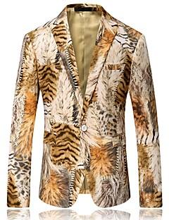 billige Herremote og klær-Jacquard Blazer-Leopard Forretning Chinoiserie Herre