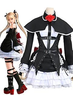 """billige Anime Kostymer-Inspirert av DOA5 død eller levende 5 Cosplay Anime  """"Cosplay-kostymer"""" Cosplay Klær Kjoler Annen Sløyfeknute Langermet Kjole Ermer"""