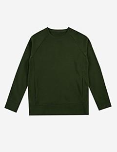 tanie Damskie bluzy z kapturem-Damskie Prosty Bawełna Bluzy - Jendolity kolor