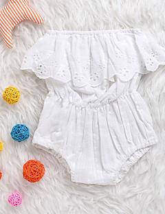 billige Babytøj-Baby Unisex En del Daglig Ensfarvet, Polyester Forår Sommer Uden ærmer Simple Hvid Sort