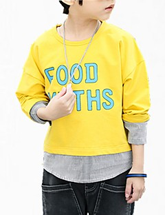 tanie Odzież dla chłopców-Bluza z kapturem / bluza Bawełna Dla chłopców Kwiaty Wiosna Prosty Niebieski Yellow
