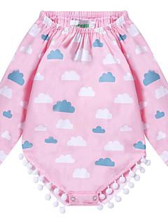 tanie Odzież dla dziewczynek-Kamizelka Bawełna Poliester Dla obu płci Codzienny Urlop Jendolity kolor Wszechświat Lato Długi rękaw Urocza Aktywny Blushing Pink