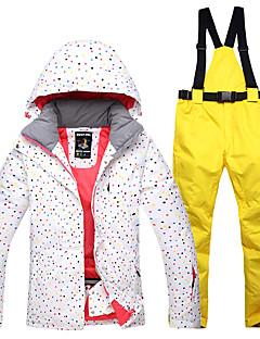 رخيصةأون ملابس التزلج-نسائي جاكيت وبنطلون للتزلج مقاوم للماء ضد الهواء دافئ التزلج قطن جاكيت شتوي الثلوج مريلة السراويل ملابس التزلج / الشتاء
