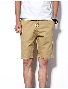 billige Herrebukser og -shorts-Herre Bomull Tynn Shorts Bukser - Trykt mønster, Ensfarget