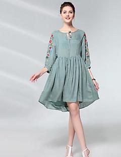 Χαμηλού Κόστους UNE FLEUR-Γυναικεία Θήκη Φόρεμα - Φλοράλ, Κεντητό Ψηλή Μέση