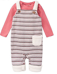 billige Sett med babyklær-Baby Unisex Tøjsæt Daglig Geometrisk, Polyester Forår Langærmet Basale Rød