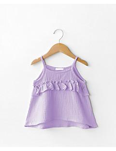 tanie Odzież dla dziewczynek-Tanktop / koszulka na ramiączkach Bawełna Dla dziewczynek Codzienny Jendolity kolor Lato Bez rękawów Prosty Aktywny Purple