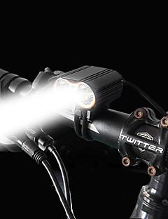 Χαμηλού Κόστους -Μπροστινό φως ποδηλάτου LED LED Ποδηλασία Εύκολη εγκατάσταση Επαναφορτιζόμενη Μπαταρία 1600 lm Επαναφορτιζόμενες Μπαταρίες Άσπρο Κατασκήνωση / Πεζοπορία / Εξερεύνηση Σπηλαίων / Ποδηλασία
