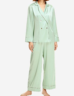 cheap Pajamas-Women's Satin & Silk Pajamas - Lace, Solid Colored