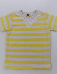 billige Overdele til drenge-Drenge T-shirt Daglig Stribet Farveblok, Bomuld Sommer Kortærmet Simple Afslappet Grøn Gul