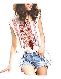 Χαμηλού Κόστους Boho Style-Γυναικεία T-shirt Βίντατζ - Συνδυασμός Χρωμάτων