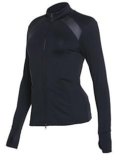 billige Løbetøj-Dame Løbejakke Langærmet Hurtigtørrende Sweatshirt for Bomuld Sort M / L / XL