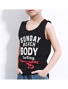 tanie Odzież dla chłopców-Dla chłopców Codzienny Sport Jendolity kolor Prążki Nadruk Tanktop / koszulka na ramiączkach, Poliester Wiosna Lato Bez rękawów Podstawowy