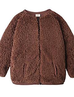 billige Overdele til drenge-Drenge Bluse Daglig Ensfarvet, Polyester Forår Langærmet Simple Brun