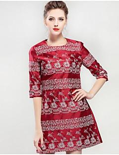 Χαμηλού Κόστους UNE FLEUR-Γυναικεία Θήκη Φόρεμα - Φλοράλ, Κεντητό