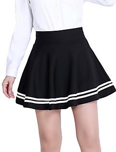 お買い得  レディーススカート-女性用 プラスサイズ ボディコン コットン スカート - ソリッド, プリーツ