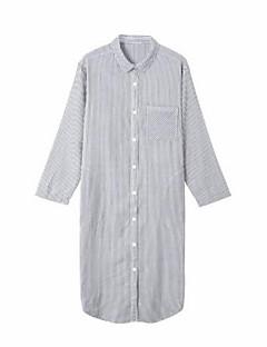 billige Moteundertøy-Dame Skjorter og kjoler Pyjamas - Stripet, Blonde