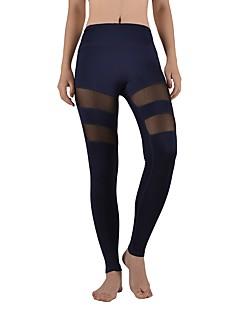 billige Løbetøj-Dame Sport Tights / Leggins Yoga, Løb, Fitness Yoga & Danse Sko Elastisk Sort, Mørkeblå, Blå Hul