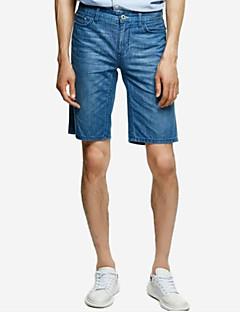billige Herrebukser og -shorts-menns vanlige mid-rise mikro-elastiske shortsbukser, enkel solid bambusfiberfjær
