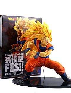 billige Anime cosplay-Anime Action Figurer Inspirert av Dragon Ball Son Goku PVC 19 CM Modell Leker Dukke