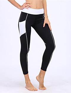 billiga Träning-, jogging- och yogakläder-BARBOK Dam Ficka Yoga byxor - Svart sporter Mode Cykling Tights / Leggings Löpning, Gym Sportkläder Tränare, Yoga, Snabb tork Elastisk