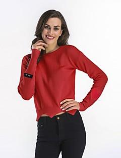 tanie Swetry damskie-Damskie Pulower Solid Color Długi rękaw