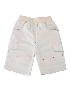 billige Drengebukser-Drenge Shorts Daglig Ferie Ensfarvet, Bomuld Polyester Sommer Halvlange ærmer Simple Sort Beige