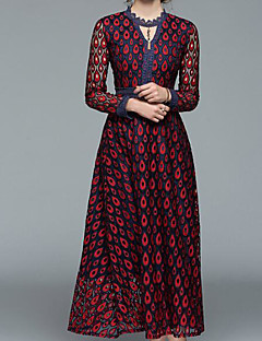 cheap Women's Fashion & Clothing-Women's Vintage Basic Sheath Dress - Floral V Neck
