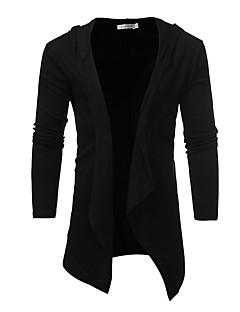 tanie Męskie swetry i swetry rozpinane-Męskie Moda miejska Rozpinany Jendolity kolor