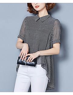 cheap Women's Blouses-Women's Basic Blouse - Striped