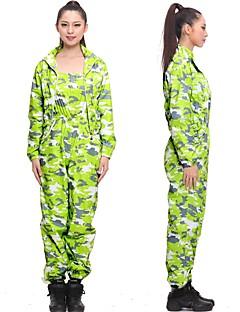 billiga Träning-, jogging- och yogakläder-Dam Yogakläder - Gul, Fuchsia, Grön sporter Leopard, Kamouflage Klädesset Långärmad Sportkläder Bärbar, Fitness, värmelagrande Elastisk